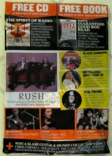 CLASSIC ROCK + CD July 2012 RUSH Harvest NEIL YOUNG Black Sabbath JOE