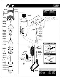Senco Stapler Nailer K Model O Ring Rebuild Parts Kit