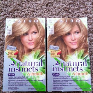 CLAIROL NATURAL INSTINCTS #9 VIBRANT HAIR COLOR HAIR DYE LIGHT BLONDE