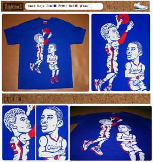 Cajmear Chris Paul Blake Griffin Clippers Shirt All Star Jersey
