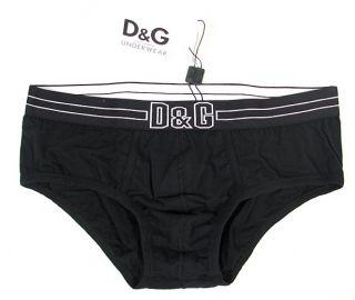 Dolce Gabbana Skin Sensation Brando Brief Stretch Cotton Black White