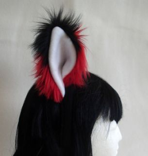Red Fox Furry Headband Ears Anime Cosplay Wolf Kitty Cat Hat Costume