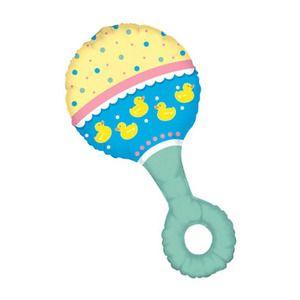 Baby Shower Rattle 38 Balloons Adorable Fun Boy Girl