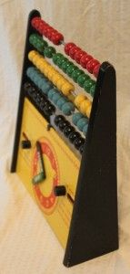 Wooden Abacus Counting Time Clock Month Day Calendar Math Aid