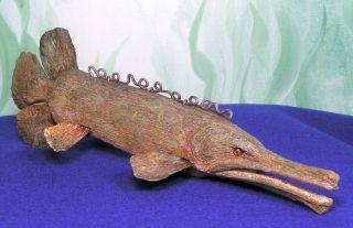 VG Gar PH Chrisianson Ice Spear Fish Decoy Samped PHC Wood GE Bai