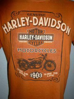 HARLEY DAVIDSON SANTA CLARITA CA Mens OLD ROAD T Shirt Sz L