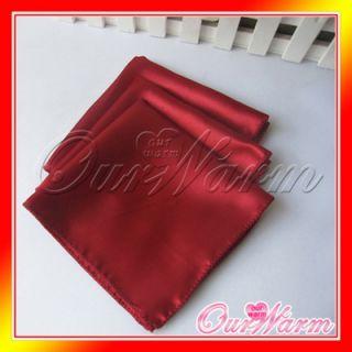 12 Crimson 12 Square Satin Cloth Napkin or Handkerchief Multi Purpose