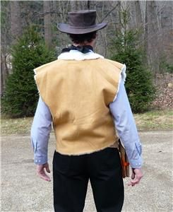 CLINT EASTWOOD Vest The Good,The Bad, Ugly   Great Halloween Costume