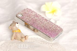 Pink Bling Luxury Sparkling Diamond Crystal Hard Cover Case for iPhone