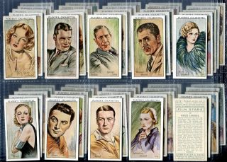Tobacco Card Set John Player Sons Film Stars Actor Actress 1st Series