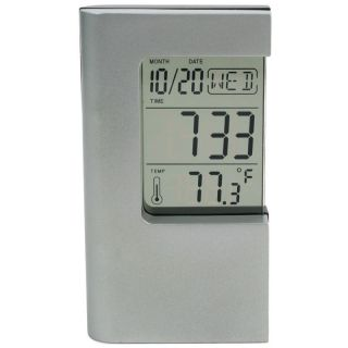 Digital Alarm Clock Calendar Thermometer LCD Display