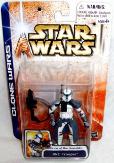 Star Wars Clone Wars Arc Trooper Action Figure Army of The Republic
