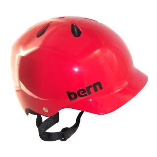 BERN WATTS Summer Helmet Gloss Red EPS MEDIUM Skate Bike NEW