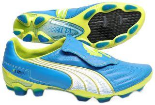 V1 11 K I FG Mens Leather Soccer Cleats Blue Green Carbon Fiber