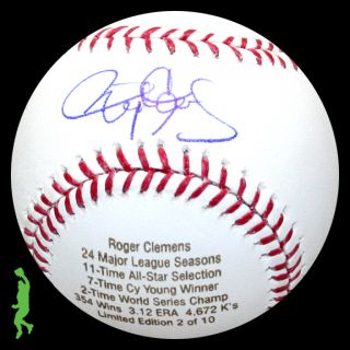 Roger Clemens Signed Auto CY Young World Series Baseball Ball Yankees