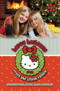 Hello Kitty Holiday Christmas Photo Card Ornament Baby 1st UPRINT 2
