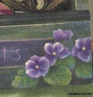 ACRYLICS VIOLETS WINDOW BOX BY SUE PRUETT FLORALS INSTRUCTIONS