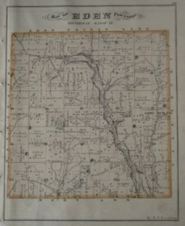 1875 HOPEWELL INDIAN MOUNDS Map Licking County Coal Mines Gratiot Ohio