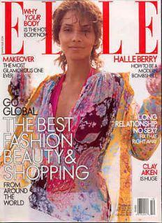 Halle Berry Elle Magazine 10 03 Clay Aiken