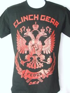 Fedor Emelianenko Clinch Gear Strikeforce Black T Shirt