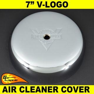 Harley 7 V Logo Chrome Air Cleaner Cover Sportster