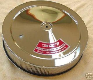 Chrome Air Cleaner Chevy SB w Decal Choice 4BBL