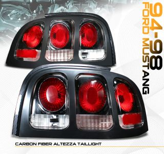 Ford Mustang Carbon Tail Light Lamp Pair 94 95 96 97 98