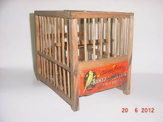 RARE VINTAGE COAL MNING HARTZ MOUNTAIN CANARY CAGE EXCELLENT