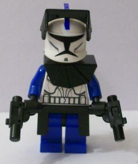 Lego Star Wars Clone Wars Custom Captain Rex w Battle Gear 2 Blasters