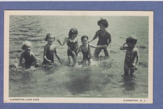 0611 Clementon NJ Vintage PC Clementon Lake Park Kids Swimming