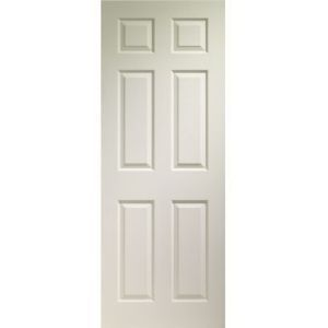 Panel grained Interior Doors White Moulded Any Size