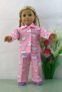 Doll Clothes Outfits For 18 American Girl Dolls Set New LANS01