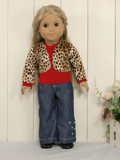 3PCs Cute Fo1 Doll Clothes outfit for 18 american girl new