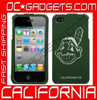 Cleveland Indians MLB Green Case Cover iPhone 4 Verizon