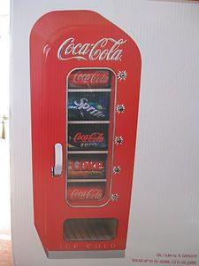 Koolatron CVF18 Coca Cola Retro Vending Machine Mini Fridge