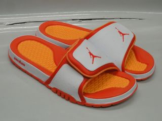 Nike Jordan Hydro 2 White Orange Sandals Mens Size 8