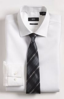 BOSS Black Dress Shirt & Tie