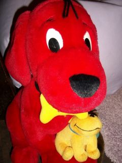 DARLING LARGE~CLIFFORD the big red dog~CHARACTER DOG W/T BONE ~HARD