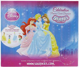 Squinkies Celebration Princess Coach Dispenser Ariel Cinderella Belle
