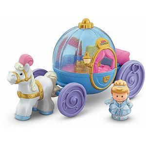 DISNEY PRINCESS PALACE CINDERELLA & CARRIAGE COACH FISHER PRICE LITTLE