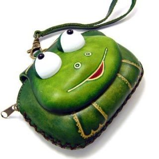 New Leather Frog Wristlet Coin Purse Wallet Handbag