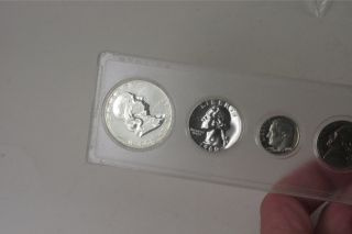 1960 5 Coin Silver Proof Set w Plastic Case 62768