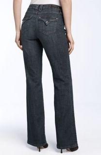 Christopher Blue Flare Leg Flap Pocket Stretch Jeans (Medium Vintage Wash)