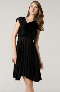 Tracy Reese Asymmetrical Drape Jersey Dress