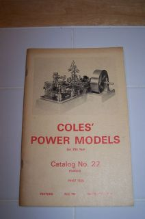 Coles Power Steam Engine Model Book Year 1974