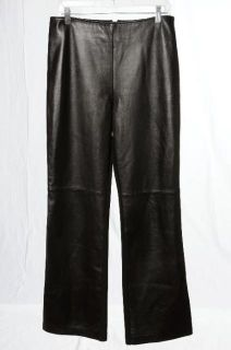 Colette Mordo Leather Knit Fashion Trousers Sleek Pants Wearable