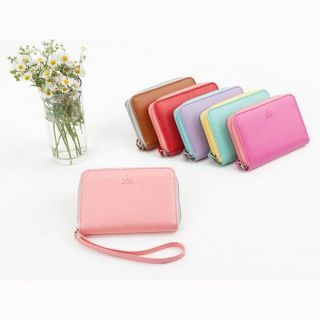 Crown PU Leather Wallet Change Purse Card Bag Coin Case Gift