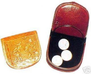 New Mexican Tooled Leather Folding Coin Purse Wallet