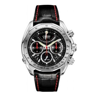 Citizen Signature Eco Drive Flyback Mens Stainless Steel Case Watch