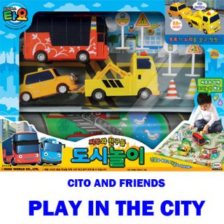 TY021 Little Bus Tayo Cito and Friends Play in The City Toy Kids Car